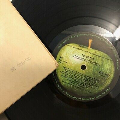 The Beatles White Album 1st Press Mono NO EMI 10,000 PMC7067 Vinyl LP Record G+