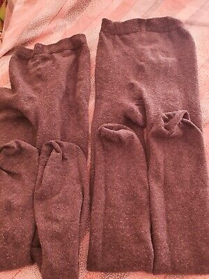 Two Lovely Pairs Of Grey Tights Agd 9-10 Years