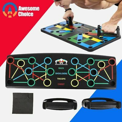 9 in 1 Push Up Board With Instruction Print Full Body Workout Fitness Training