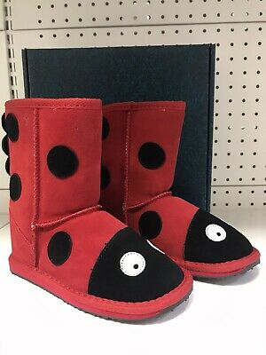 Emu Australia Little Creatures - Lady Bird Kids Deluxe Wool UGG Boot -Size US 13
