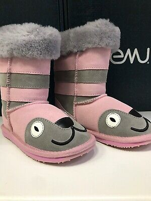 Emu Australia Little Creatures - Kitty Kids Deluxe Wool UGG Boot - Size US 10