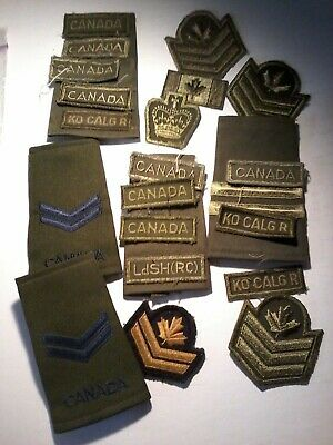 lot of older canadian assorted  military insignia 1980s