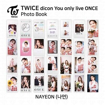 TWICE x dicon You Only Live ONCE Card Photo Book Postcard Nayeon KPOP K-POP