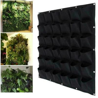 Planting Bag Hanging Wall Vertical 72 Pocket Planter Hanging Flower Herb Garden