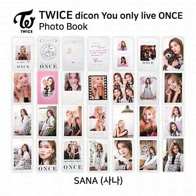 TWICE x dicon You Only Live ONCE Card Photo Book Postcard Sana KPOP K-POP