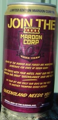 2009 XXXX Join The Maroon Corp Bottom Opened Empty Limited Edition