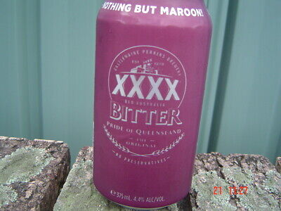 2019 XXXX  Bitter Origin Qld Maroons Can Release Bottom Opened 375ml Can