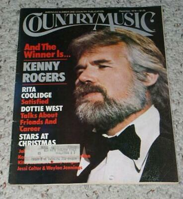 Kenny Rogers Country Music Magazine Vintage 1979
