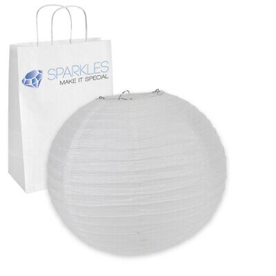 """10"""" inch Chinese Paper Lantern - White - Wedding Party Event Decoration ex"""