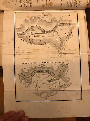Circa 1848 US Map Of Upper And Lower Gold Mines Of Mormon Diggings