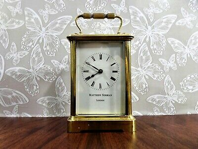 MATTHEW NORMAN VINTAGE SWISS 8 DAY CARRIAGE CLOCK 19th Century 0bis Clock Case