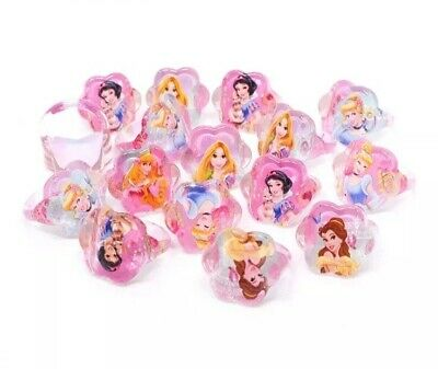 Party Bag Fillers Birthday Girls 10 Childs Rings Disney Princess