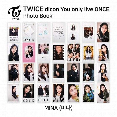 TWICE x dicon You Only Live ONCE Card Photo Book Postcard Mina KPOP K-POP