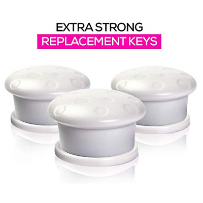 Universal Replacement Keys for Magnetic Cabinet Locks Child Safety for Drawers -