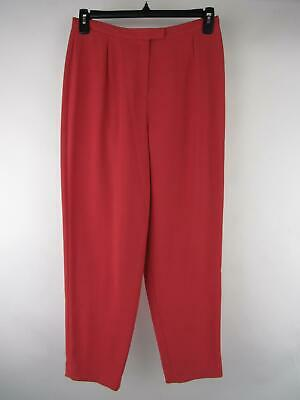 Petite Sophisticate Women's sz 10 Solid Pink Polyester Relaxed Casual Pants