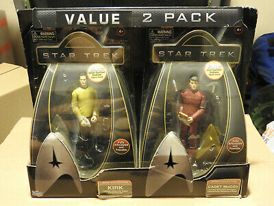 Star Trek Figure 2 Pack By Playmates. Kirk and Cadet McCoy. Warp Collection
