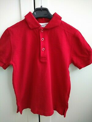 Hugo Boss Boys Children's Red Polo T Shirt Age 6 Years Size 6-114 Slim Fit
