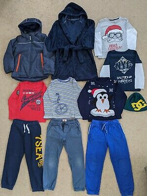 Boys Bundle Of Clothes In A Size 7-8 Years- 11 Items from Next, Quicksilver, H&M