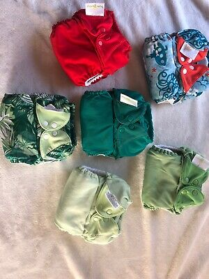 Bumgenius Freetime All in One Cloth Diaper One Size Lot Of 6