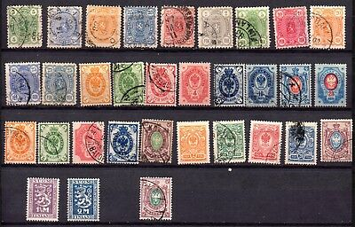 LOT 32 Stamps FINLAND period 1875 1927 (CAT. VALUE ABOUT 170€)