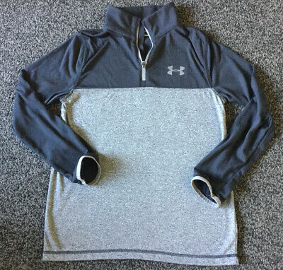 Under Armour Boys Long Sleeve Top grey And Black Size YMG Approx aged 10/11