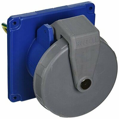 Hubbell HBL4100R9W Pin and Sleeve IEC Receptacle, 3 Pole, 4 Wire, 100 amp, 250V,