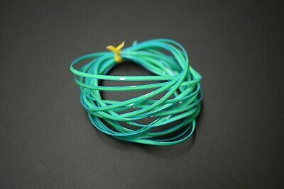 "4 Yards GLOW IN THE DARK GREEN 1//8/""  Flat Plastic Larva Lace for Fly Tying"