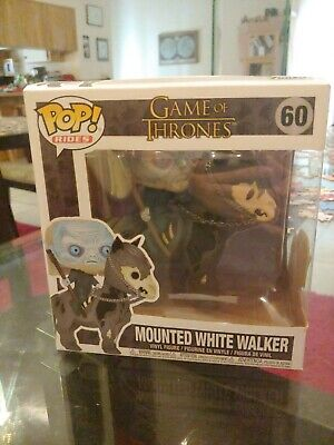 Near Mint Funko Pop! Rides Game of Thrones Mounted White Walker #60 Vinyl Figure