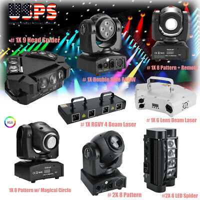RGBW LED Laser Stage Lighting RC+DMX512 Projector Disco Party KTV DJ Lights