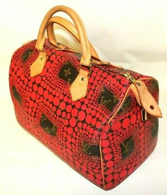 Louis Vuitton Limited Edition Yayoi Kusama Red Dots Monogram Canvas Speedy 30