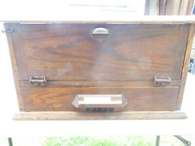 Antique OAK Original GLASS COUNTRY STORE DISPLAY/SHOWCASE Cash Drawer Showcase