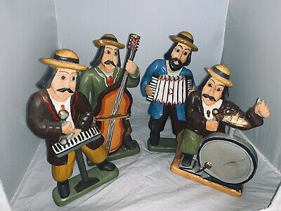 polished wooden carved band (4 piece)