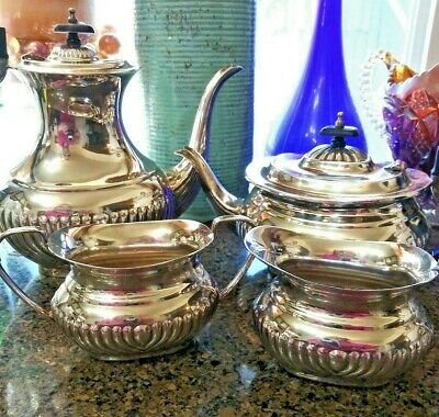 4 Piece Silver Plated Tea & Coffee Set made in Sheffield England