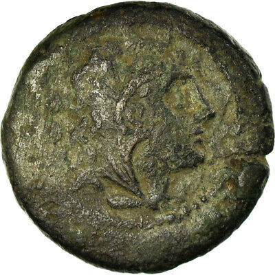 [#499955] Coin, Anonymous, Triens, After 211 BC, VF(20-25), Bronze