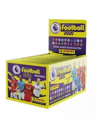 FULL BOX 100 packets of Football 2020 Stickers Premier League PANINI £70 R.r.p