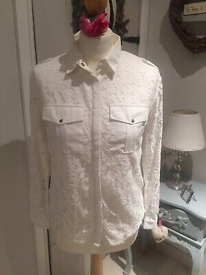 Girls River Island Cream Lace Blouse Aged 12 Years