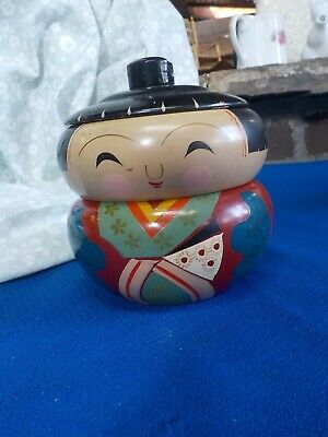 Japanese Kokeshi Doll Stacking Bowls Bento Lacquered Wood