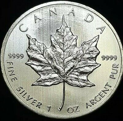 2013 1oz Canadian Silver Maple Leaf Coin 1 Troy Ounce Of. 9999 Fine Silver Unc