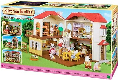 Sylvanian Families Red Roof Country Home with Battery Operated Lights 5302