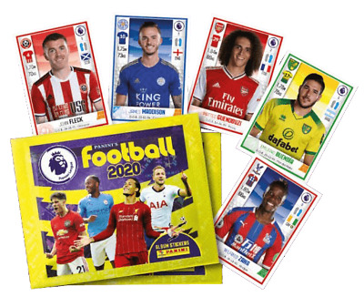 2020 Panini English Premier League Soccer Stickers - 10 Packets (50 stickers)