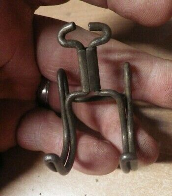Antique METAL Picture Hanging HOOK Victorian Rail Molding Hangers ORNATE unusual