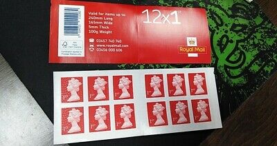 24 x 1st Class Royal Mail Postage Stamps Booklet - NEW - Happy Savings ✅
