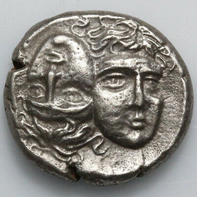 Ancient Greek Silver coin Stater MOESIA, Istros. Circa 4th Century BC