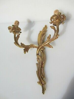 Gold Wall Light French Rococo Baroque Gilded Sconce Antique STYLE - £25 each
