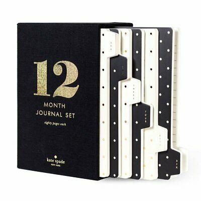 Kate Spade New York Spot On 12 Month Journal Set - 80 Pages Each - NEW