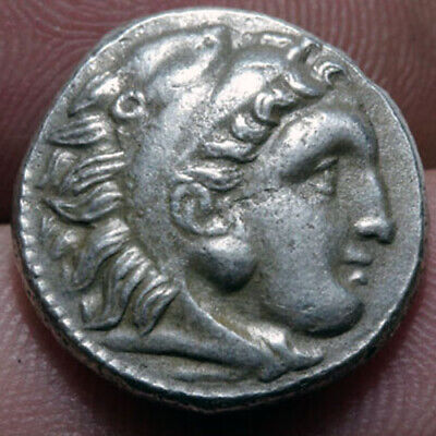 Ancient Greek Silver Coin Drachm Alexander The Great 336-322 Bc