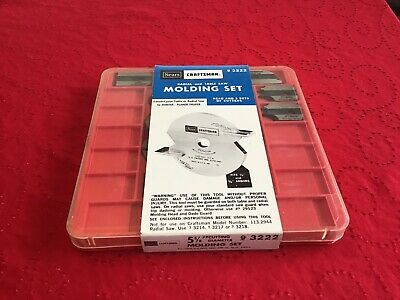 Sears Craftsman Radial And Table Saw Molding Set Part Number 9 3222