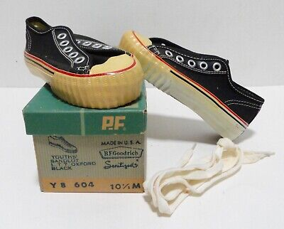 Vintage BF Goodrich PF Flyers Sandlot Youth Black Sneakers 10.5M NOS Dead Stock