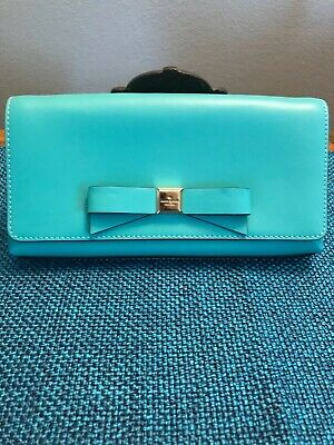 Authentic Kate Spade New York Teal Clutch - Lightly used