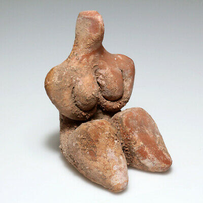 Rare-Ancient Tell Halaf Terracotta Idol Fertility Statue Circa 3500 Bc